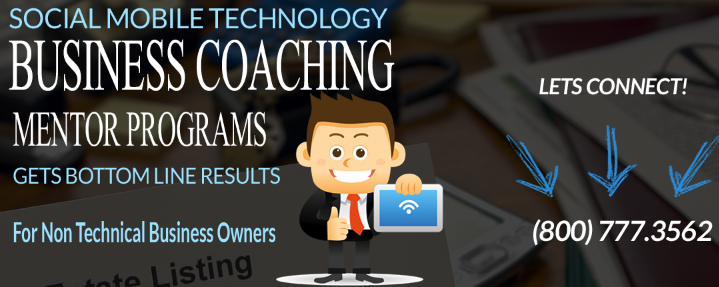 Social Mobile tech Biz Coaching Graphic