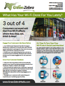 Social Wifi Promotional Flyer